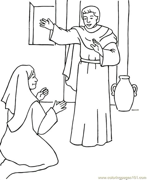 mary is chosen coloring page coloring pages