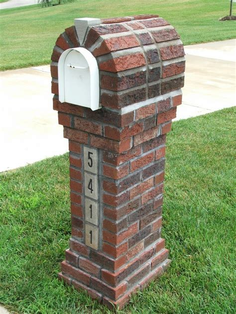 brick mailboxes make your post envious with brick mailbox designs homesfeed