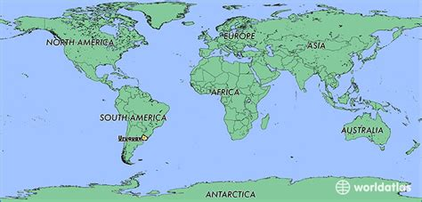 uruguay on a world map where is uruguay where is uruguay located in the world