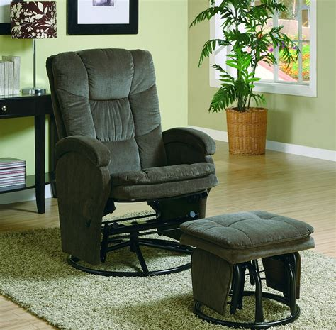 reclining glider rocker with ottoman reclining rocker glider with ottoman in chenille