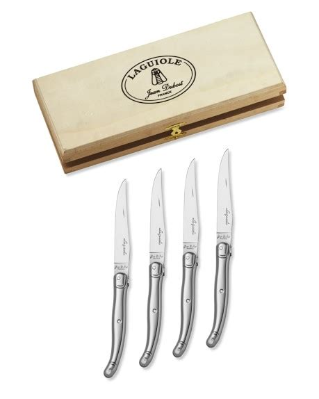 laguiole â stainless steel steak knives set of 6 laguiole jean dubost stainless steel steak knives set of