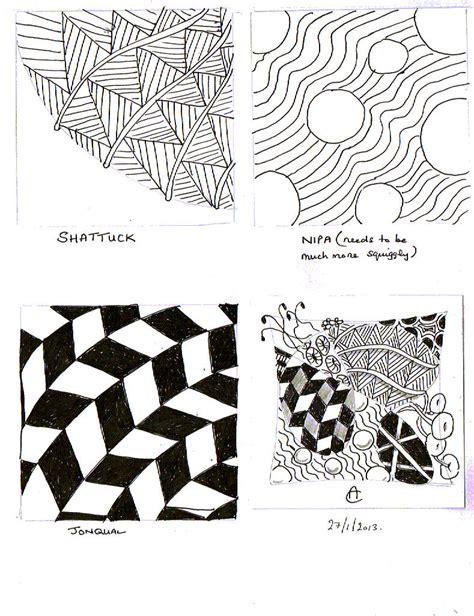 zentangle pattern a day tiles tabbycattangles