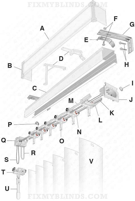 Vertical Blind Repair Parts vertical blind diagram