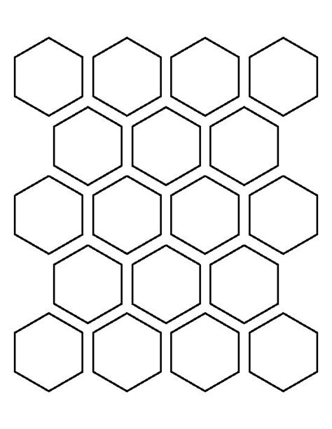 free printable hexagon template 2 inch hexagon pattern use the printable outline for