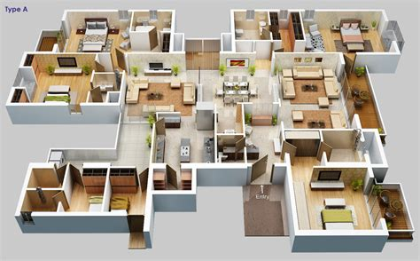 home plan design 4 bhk saha amadeus floor plans