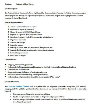 Assistant Sports Information Director Sle Resume by Athletic Director Description Student Athlete Sports Sports Q A Transitioning