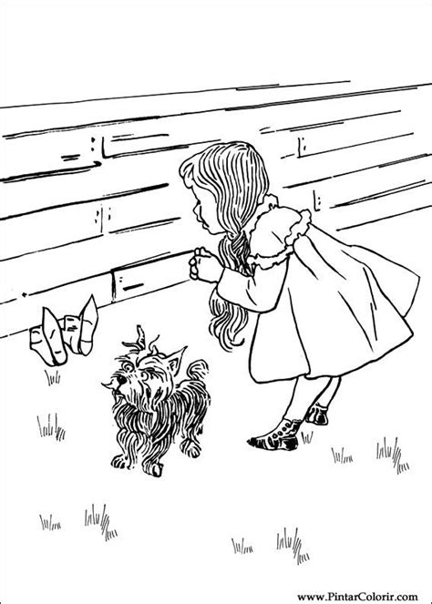 coloring pages oz witch drawings to paint colour wizard of oz print design 005