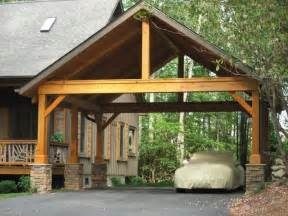 Open Carport Carport With Pitch Roof Open Gable Timber Frame Half