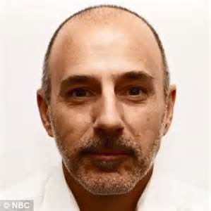 matt lauer hair today show hosts go make up free on air daily mail online
