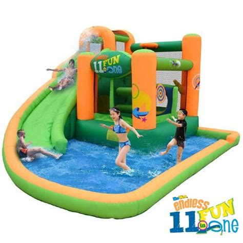 water slide bounce house endless fun 11 in 1 inflatable bounce house water slide