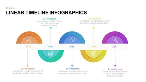 linear flow chart template linear timeline infographics powerpoint and keynote