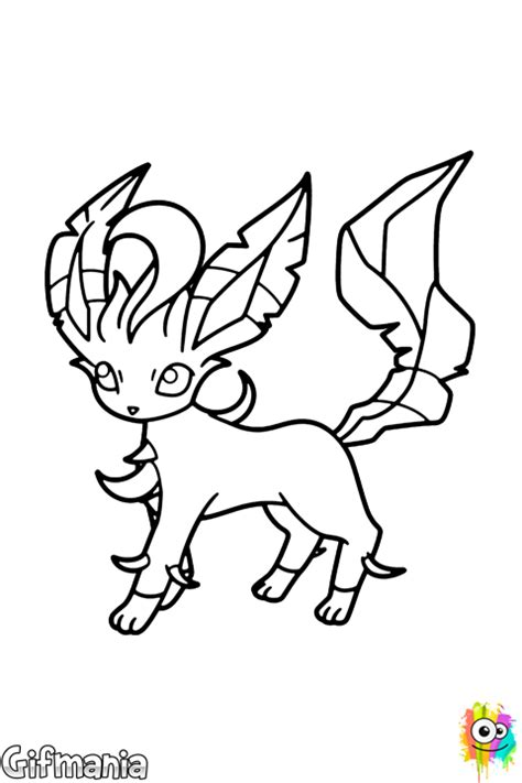 pokemon coloring pages of leafeon leafeon coloring page