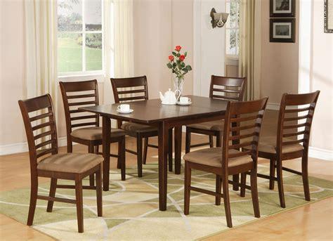 milan pc rectangular dinette dining table set extension leaf sku mah