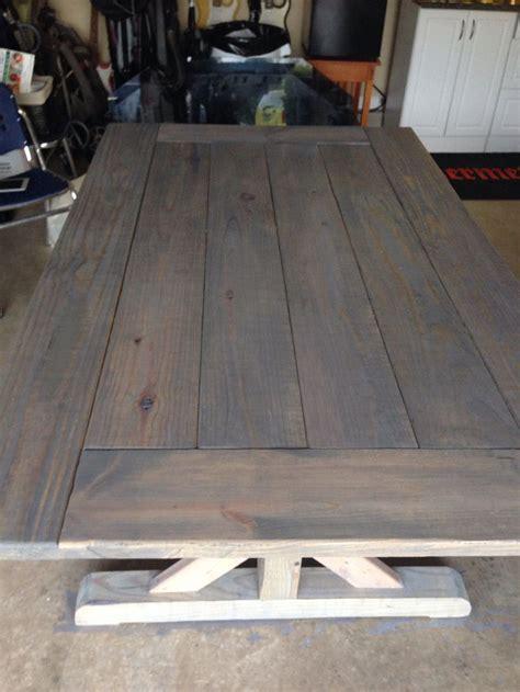 farmhouse table stain color handmade farm house table with reclaimed wood coat
