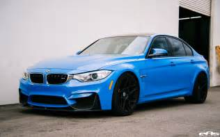 Blue Bmw M3 Yas Marina Blue Bmw M3 Gets Some Racing Upgrades