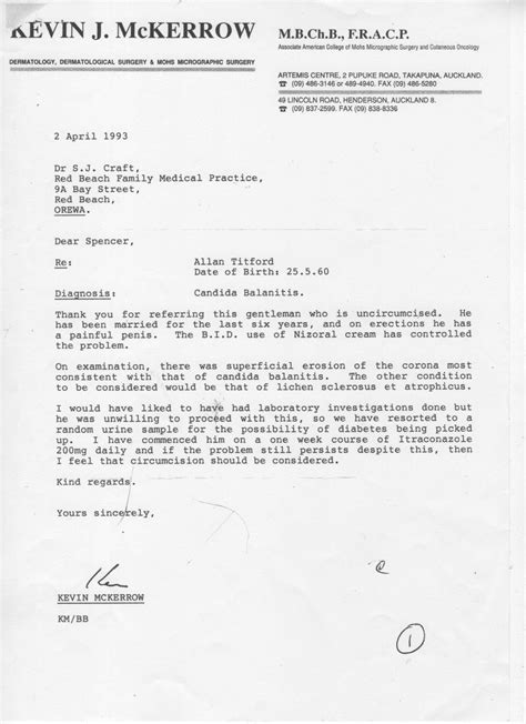 Support Letter From Doctor Allan Titford Doctor S Letter