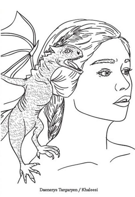 thrones coloring pages for adults daenerys of thrones coloring page coloring pages