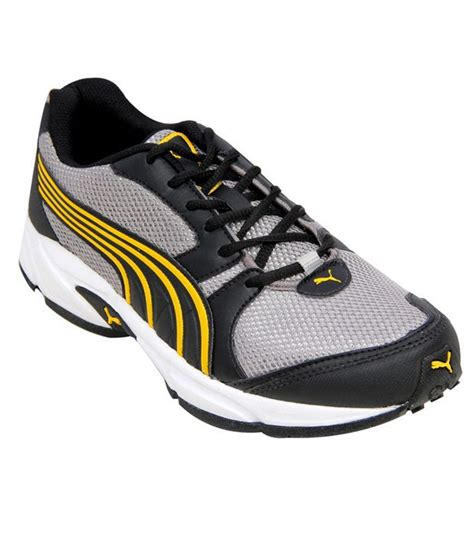 sturdy running shoes buy sturdy grey yellow running shoes for