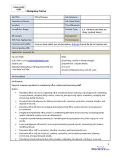 office junior description template description project manager template work tips