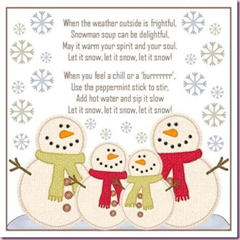 Snowman Hot Chocolate Poem » Home Design 2017