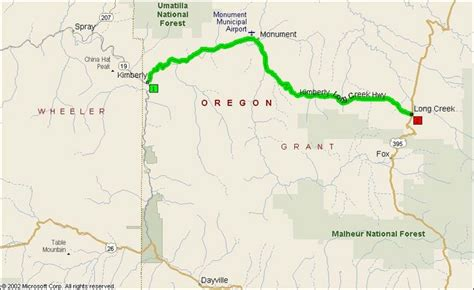 map of hwy 395 oregon oregon state route 402 creek highway