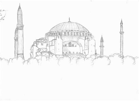 hagia sophia istanbul turkey coloring page coloring 2 hagia sophia by steelia on deviantart