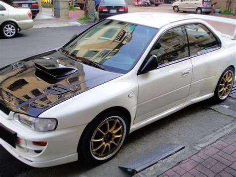 subaru gc8 white 93 01 jdm frp complete 22b wide body kit subaru impreza