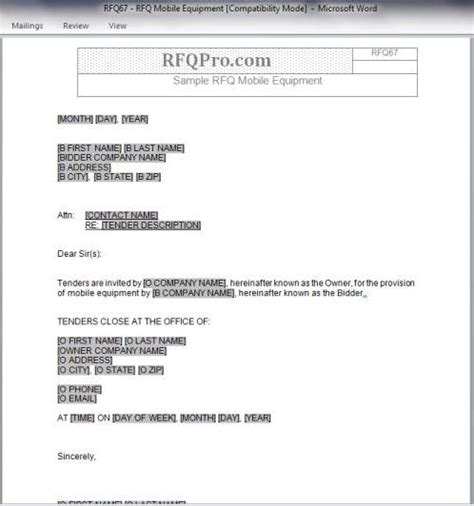 rfq request  quote archives rfp templates  sample request  proposal form rfp