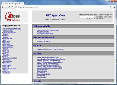 jmx console jmx technologie pour le monitoring d applications java