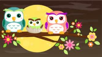 Colorful Wall Murals cute owl family wall murals wall decals posters prints