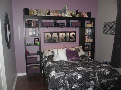 paris themed bedroom curtains purple and grey paris themed teen bedroom home decor