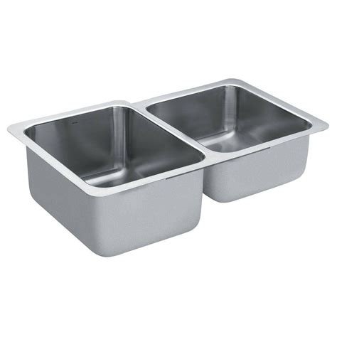 moen kitchen sinks undermount moen 1800 series undermount stainless steel 32 in double