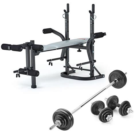 york 501 bench york b501 weight bench with 50kg cast iron weight set