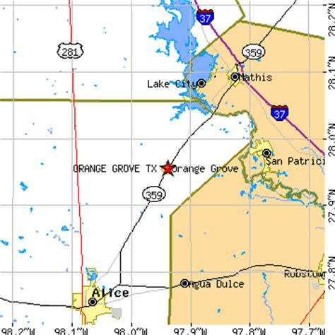 orange texas map orange grove texas tx population data races housing economy
