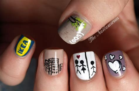 ikea nails just like the movies 500 days of summer nail art the