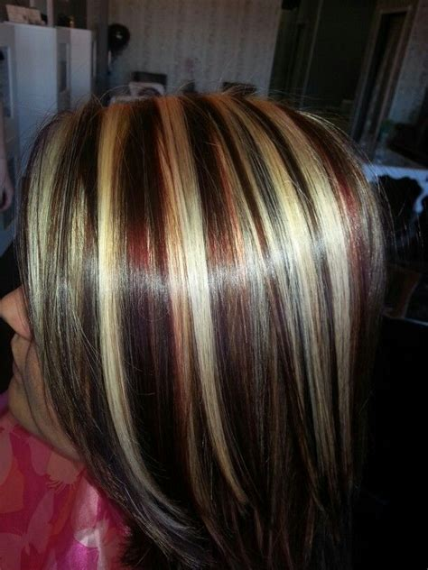 best red highlights ideas for blonde brown and black hair red blonde brown highlights lowlights new look