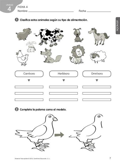 imagenes de animales carnivoros para colorear ficha animales herb 237 voros carn 237 voros y omn 237 voros para