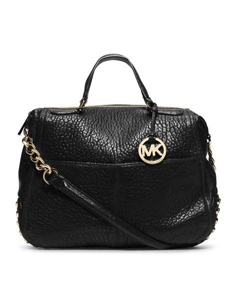 Michael Kors Large Mercer Black Studded Tas Mk Original lyst michael kors michael large shelley studded satchel