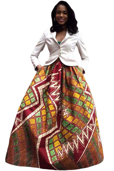 us 10 12 retro style print maxi skirt dropshipping