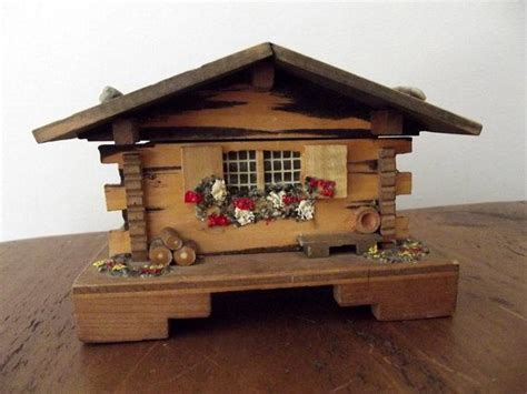 music box house vintage home decor cottage chic country folk box house cabin wooden m