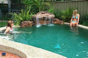 pool waterfall ideas pool waterfall swimming pools and swimming on pinterest