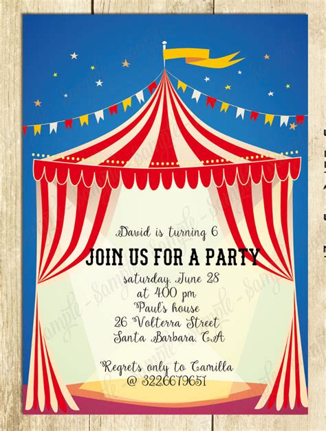 circus invitation template 23 carnival invitations free psd vector eps ai