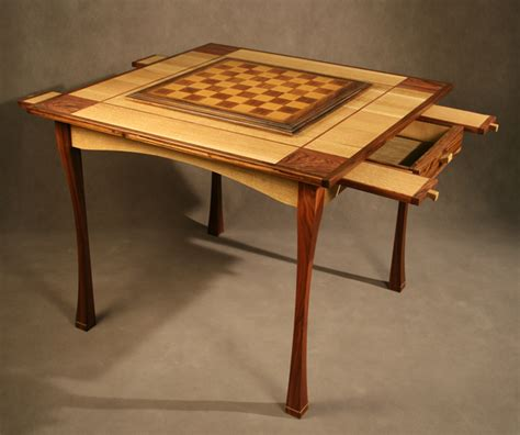 custom chess game table oak rosewood