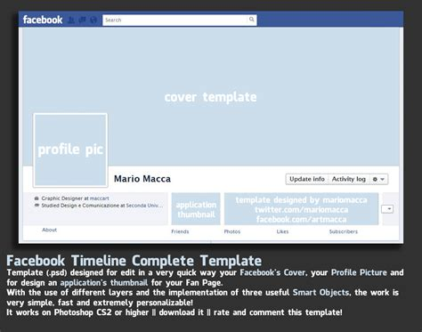 facebook timeline cover template version 1 2 over