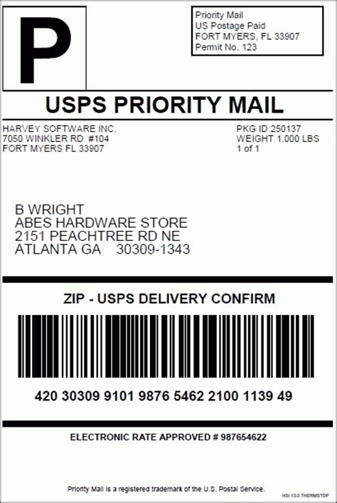 printable usps labels cps supported usps services