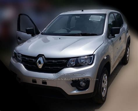 renault kwid silver renault kwid spied at dealership launch in september