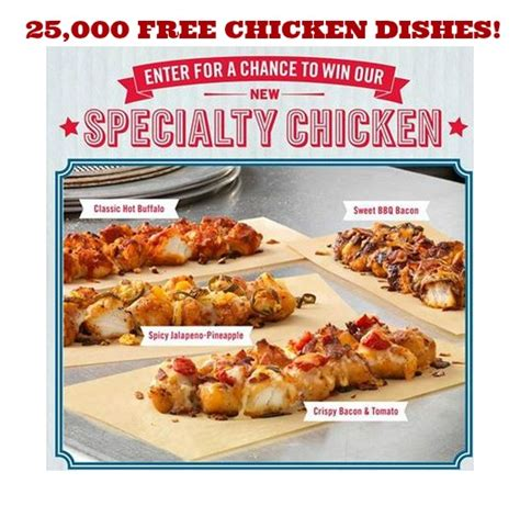 Domino S Pizza Giveaway - 25 000 free domino s pizza chicken 5 99 value