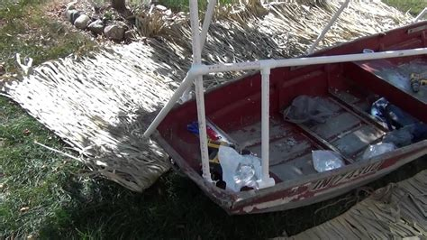 how to build a boat blind out of pvc boat blind build youtube
