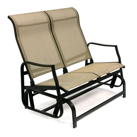 patio loveseat glider swing loveseat glider
