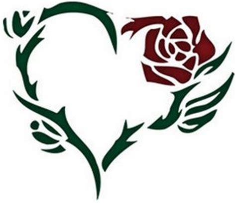 heart rose and vine tattoo designs the world s catalog of ideas